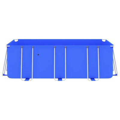 "vidaXL Swimming Pool with Steel Frame 157.5""x106.3""x48"" Blue"