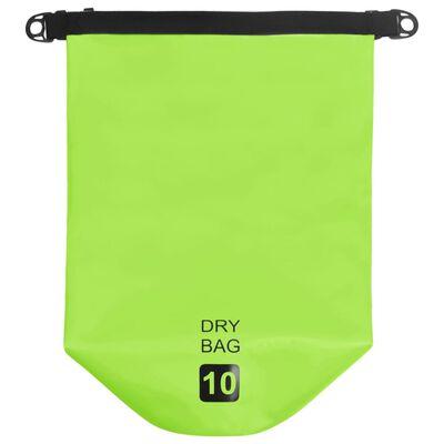 vidaXL Dry Bag Green 2.6 gal PVC