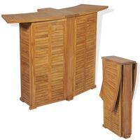 "vidaXL Folding Bar Table 61""x20.9""x41.3"" Solid Teak Wood"