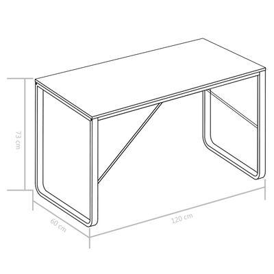 "vidaXL Computer Desk Black 47.2""x23.6""x28.7"""