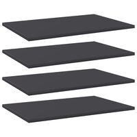 """vidaXL Bookshelf Boards 4 pcs Gray 23.6""""x15.7""""x0.6"""" Chipboard"""