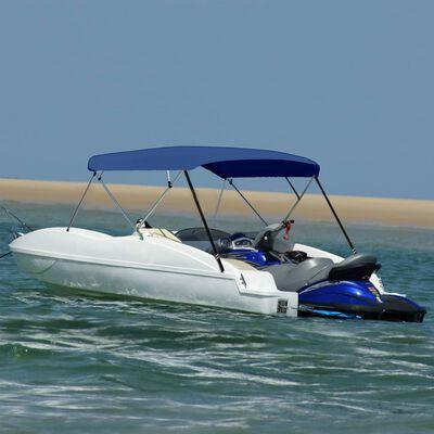 "vidaXL 4 Bow Bimini Top Navy Blue 95.7""x(90.6""-96.1"")x53.9"""