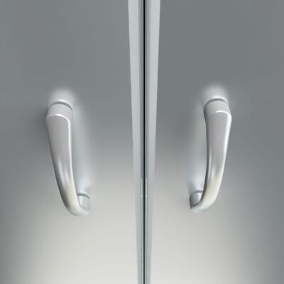"""vidaXL Shower Doors Half Frosted ESG 33.5""""x72.8"""""""