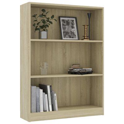 """vidaXL Bookshelf Sonoma Oak 31.5""""x9.4""""x42.5"""" Chipboard"""