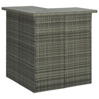 """vidaXL Corner Bar Table Gray 39.4x19.7""""x41.3"""" Poly Rattan"""""""