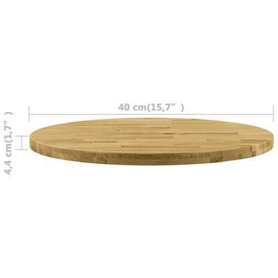 """vidaXL Table Top Solid Oak Wood Round 1.7"""" 15.7"""""""