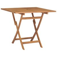 "vidaXL Folding Garden Table 33.5""x33.5""x29.9"" Solid Teak Wood"