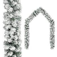vidaXL Christmas Garland with Flocked Snow Green 65.6' PVC