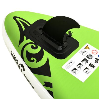 """vidaXL Inflatable Stand Up Paddleboard Set 120.1""""x29.9""""x5.9"""" Green"""