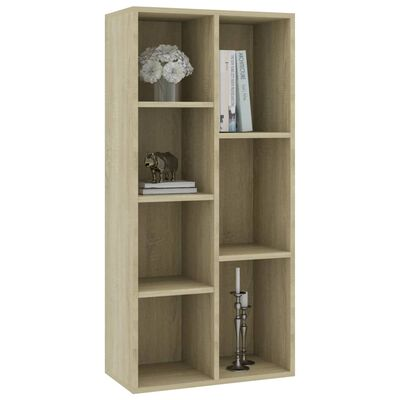 "vidaXL Book Cabinet Sonoma Oak 19.7""x9.8""x41.7"" Chipboard"