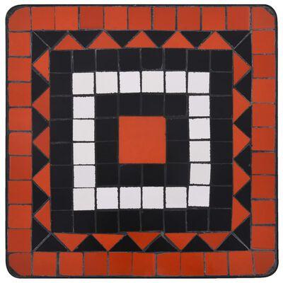 vidaXL Mosaic Side Table Terracotta and White Ceramic