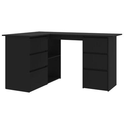 Vidaxl Corner Desk Black 57 1 X39 4 X29, Corner Desk Black