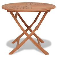 "vidaXL Folding Garden Table 33.5""x30"" Solid Teak Wood"