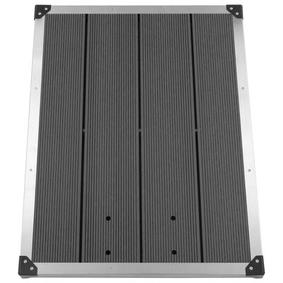 """vidaXL Outdoor Shower Tray WPC Stainless Steel 31.5""""x24.4"""" Gray"""