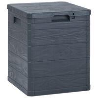 vidaXL Garden Storage Box 23.8 gal Anthracite