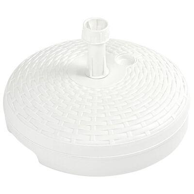 vidaXL Umbrella Base Sand/Water Filled 5.3 gal White Plastic