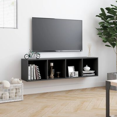 "vidaXL Book Cabinet/TV Cabinet Gray 56.3""x11.8""x14.2"""