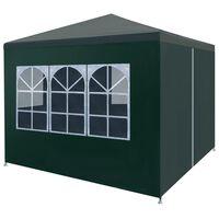 """vidaXL Party Tent 9'10""""x9'10"""" Green"""