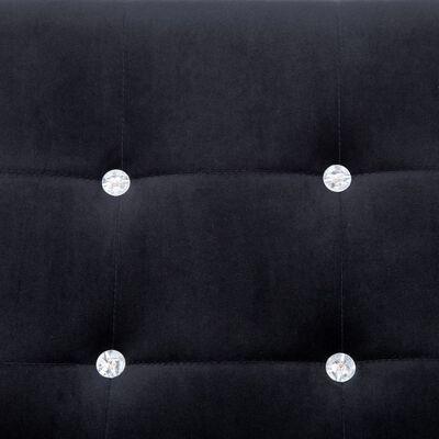 vidaXL 2-Seater Sofa with Armrests Black Chrome and Velvet