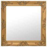"vidaXL Wall Mirror Baroque Style 23.6""x23.6"" Gold"