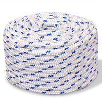 "vidaXL Marine Rope Polypropylene 0.24"" 3937"" White"