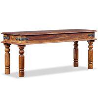 "vidaXL Castle Bench Solid Sheesham Wood 43.3""x13.8""x17.7"""