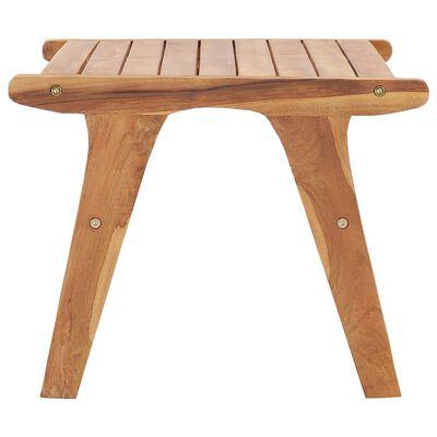 vidaXL Garden Chair with Footrest Solid Teak Wood