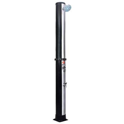 vidaXL Outdoor Solar Shower with Shower Head and Faucet 10.6 gal