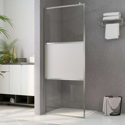 """vidaXL Walk-in Shower Wall with Half Frosted ESG Glass 39.4""""x76.8"""""""