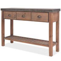 "vidaXL Console Table Solid Fir Wood 48""x13.8""x31.5"""