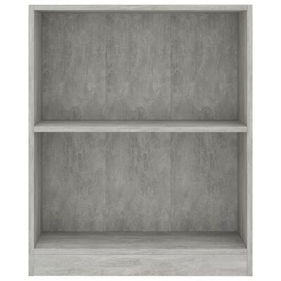 """vidaXL Bookshelf Concrete Gray 23.6""""x9.4""""x29.3"""" Chipboard"""
