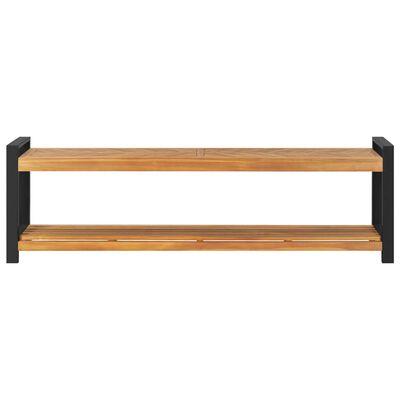 """vidaXL Bench 63"""" Solid Teak Wood"""