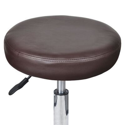vidaXL Office Stool Brown Faux Leather