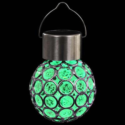 vidaXL Hanging Solar Lamps 8 pcs LED Lights RGB