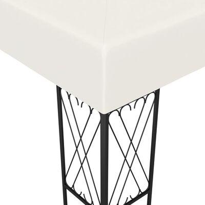 vidaXL Gazebo 9.8'x13.1' Cream Fabric