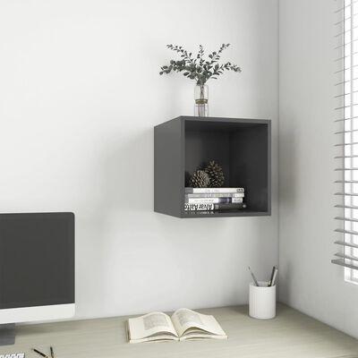 "vidaXL Wall Cabinet Gray 14.6""x14.6""x14.6"" Chipboard"