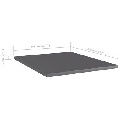 "vidaXL Bookshelf Boards 8 pcs High Gloss Gray 15.7""x19.7""x0.6"" Chipboard"