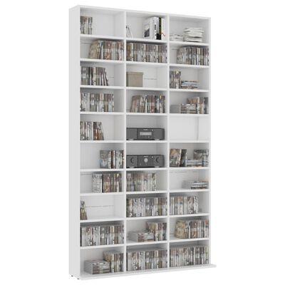 "vidaXL CD Cabinet White 40.6""x9""x69.9"" Chipboard"