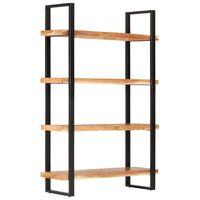 "vidaXL 4-Tier Bookcase 47.2""x15.7""x70.9"" Solid Acacia Wood"