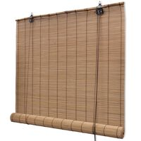 """Brown Bamboo Roller Blinds 39.4"""" x 63"""""""