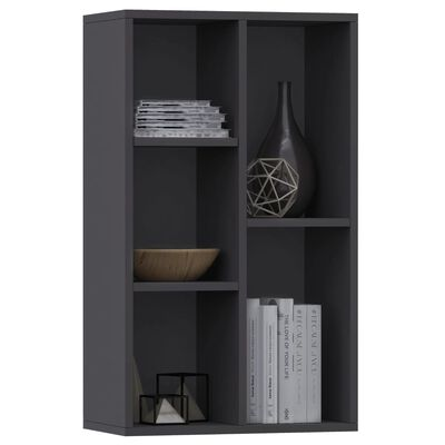 "vidaXL Book Cabinet/Sideboard Gray 19.7""x9.8""x31.5"" Chipboard"