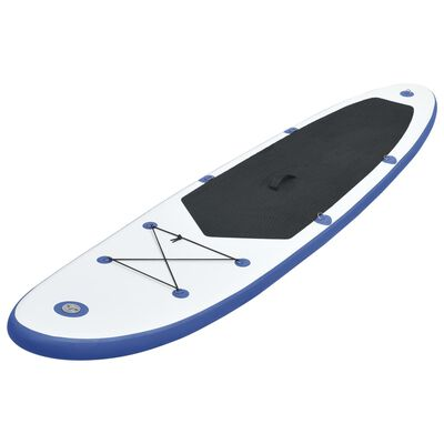 vidaXL Stand Up Paddle Board Set SUP Surfboard Inflatable Blue and White