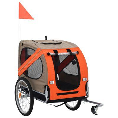 vidaXL Dog Bike Trailer Orange and Brown