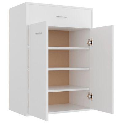 "vidaXL Shoe Cabinet White 23.6""x13.7""x33"" Chipboard"