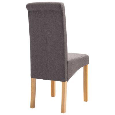 vidaXL Dining Chairs 6 pcs Taupe Fabric