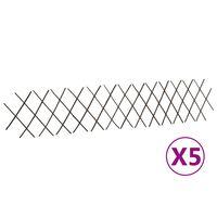 "vidaXL Willow Trellis Fences 5 pcs 70.9""x11.8"""