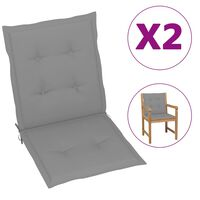 "vidaXL Garden Chair Cushions 2 pcs Grey 39.4""x19.7""x1.6"""