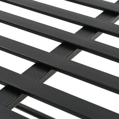 "vidaXL Bench Vintage Style Metal 32.7""x16.5""x21.7"" Black"