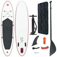 Stand Up Paddle Board Set SUP Surfboard Inflatable Red and White