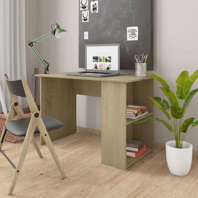"vidaXL Desk Sonoma Oak 43.3""x23.6""x28.7"" Chipboard"